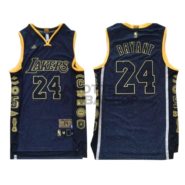 Vendite Maglia NBA Los Angeles Lakers NO.24 Kobe Bryant 2016 Nero Serpentina
