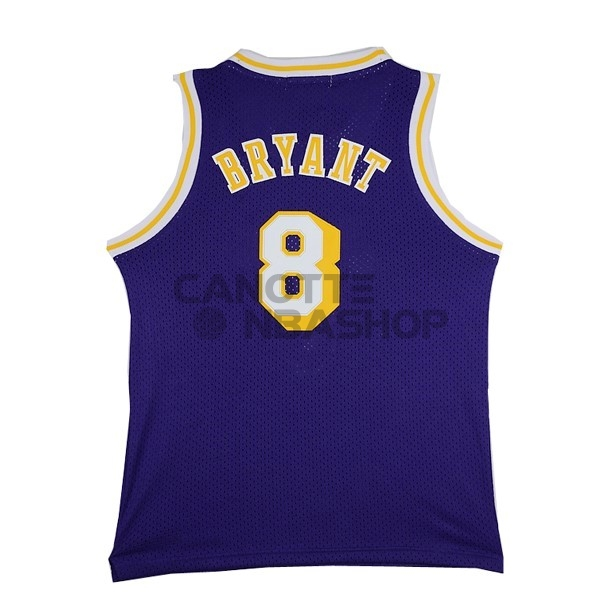 Vendite Maglia NBA Los Angeles Lakers NO.8 Kobe Bryant Porpora