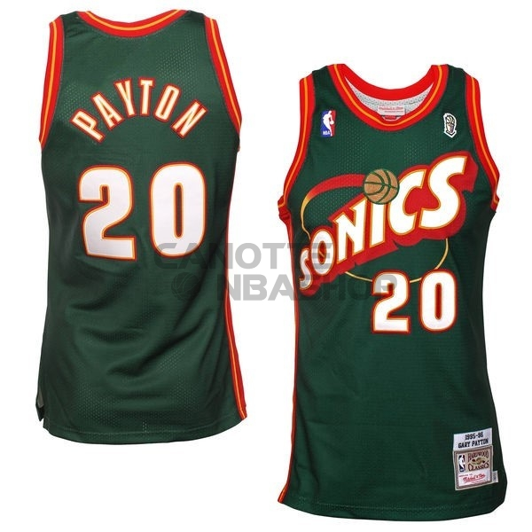 Vendite Maglia NBA Seattle Supersonics NO.20 Gary Payton Retro Verde