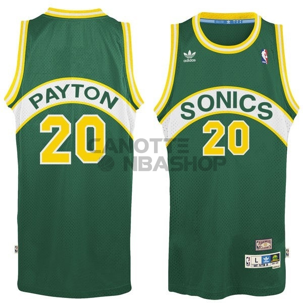 Vendite Maglia NBA Seattle Supersonics NO.20 Gary Payton Verde