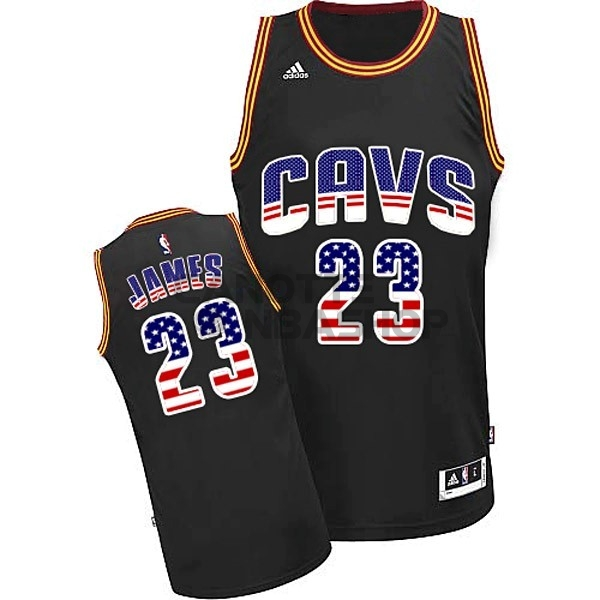 Vendite Maglia NBA USA Flag Special Edition NO.23 James Nero