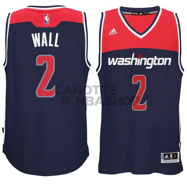 Vendite Maglia NBA Washington Wizards NO.2 John Wall Nero