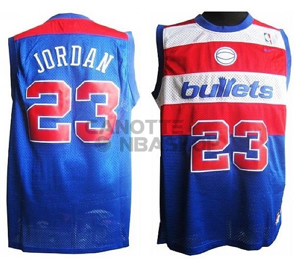 Vendite Maglia NBA Washington Wizards NO.23 Michael Jordan Retro Blu