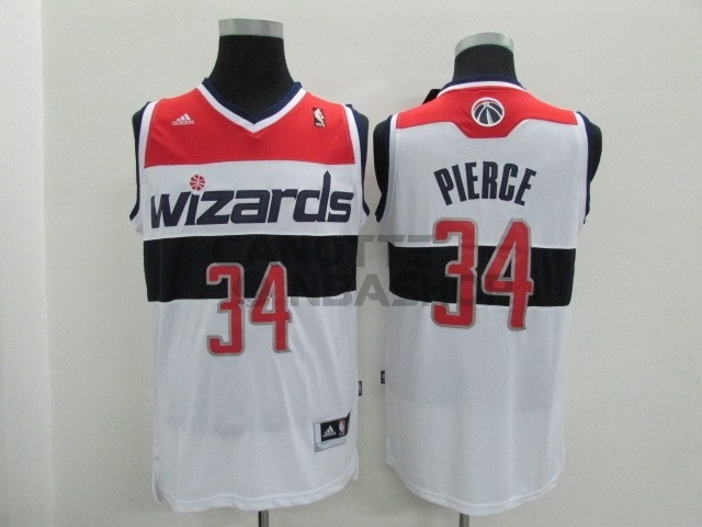 Vendite Maglia NBA Washington Wizards NO.34 Paul Pierce Bianco