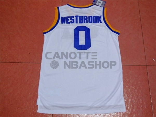 Vendite Maglia NCAA UCLA NO.0 Russell Westbrook Bianco