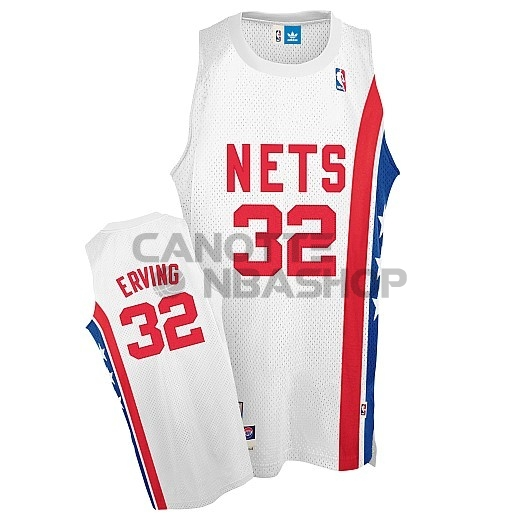 Vendite Maillo ABA Brooklyn Nets NO.32 Erving Bianco