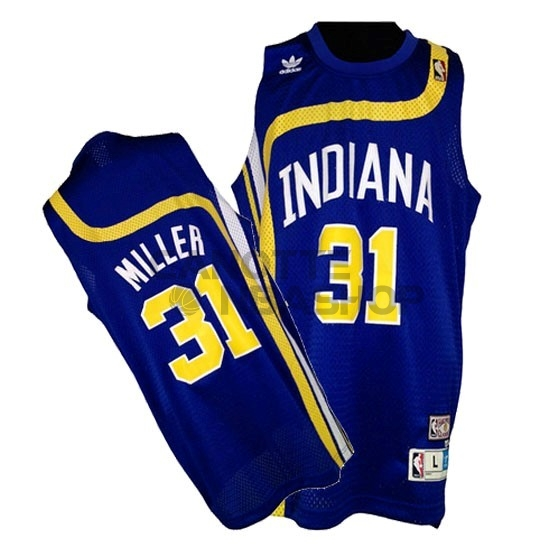 Vendite Maillo ABA Indiana Pacers NO.31 Miller Blu