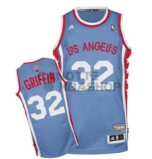 Vendite Maillo ABA Los Angeles Clippers NO.32 Griffin Grigio