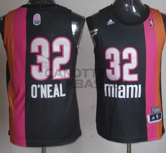 Vendite Maillo ABA Miami Heat NO.32 O'Neal Nero