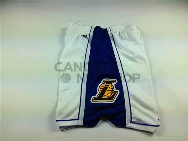 Vendite Pantaloni Basket 2015 Natale Los Angeles Lakers Bianco