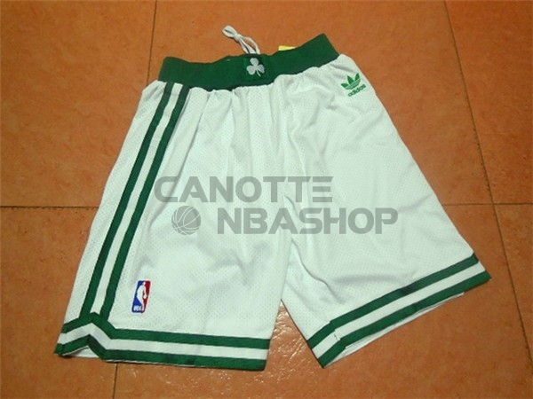 Vendite Pantaloni Basket Boston Celtics Retro Nero