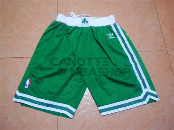 Vendite Pantaloni Basket Boston Celtics Retro Verde