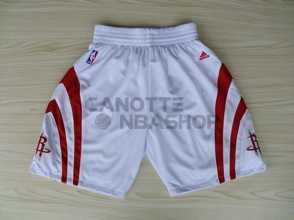 Vendite Pantaloni Basket Houston Rockets Bianco