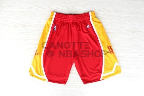 Vendite Pantaloni Basket Houston Rockets Retro Rosso