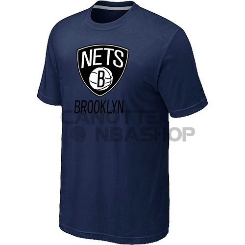 Vendite T-Shirt Brooklyn Nets Inchiostro Blu