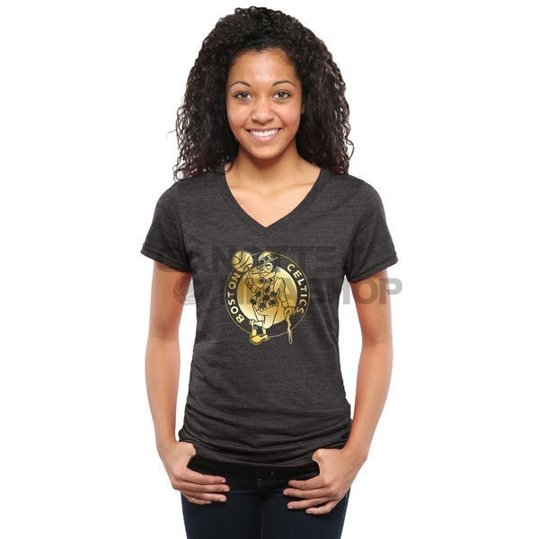 Vendite T-Shirt Donna Boston Celtics Nero Oro