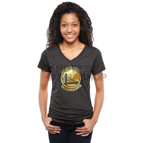 Vendite T-Shirt Donna Golden State Warriors Nero Oro