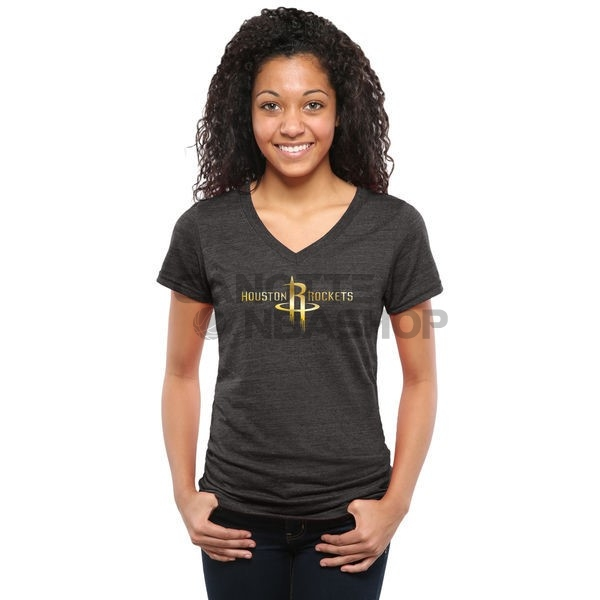 Vendite T-Shirt Donna Houston Rockets Nero Oro