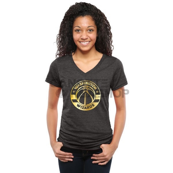 Vendite T-Shirt Donna Washington Wizards Nero Oro