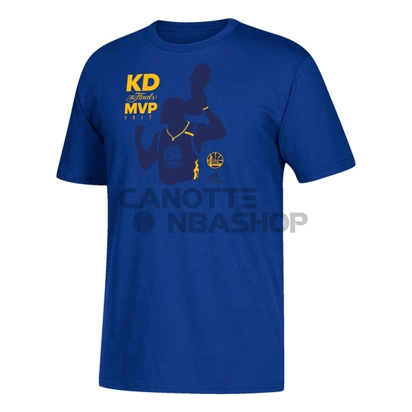Vendite T-Shirt Golden State Warriors Champions 2017 Kevin Durant MVP