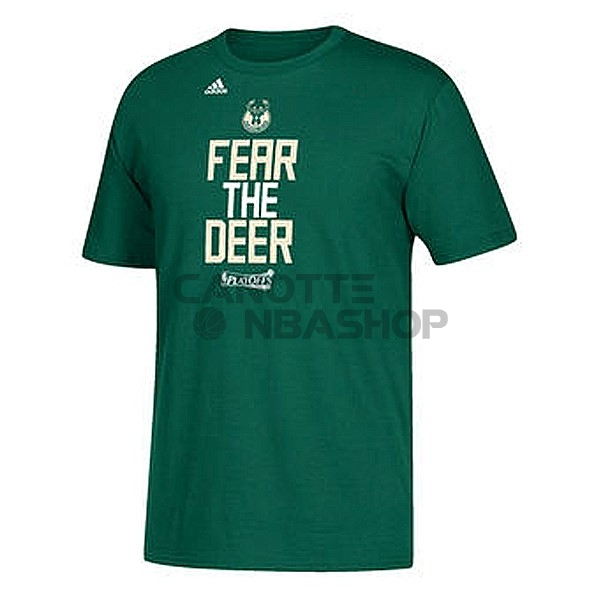 Vendite T-Shirt Milwaukee Bucks NBA Playoffs Participant Slogan 2017