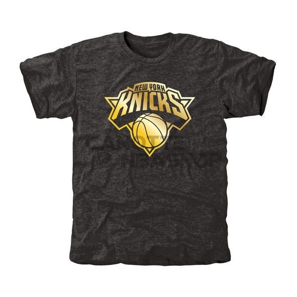 Vendite T-Shirt New York Knicks Nero Oro